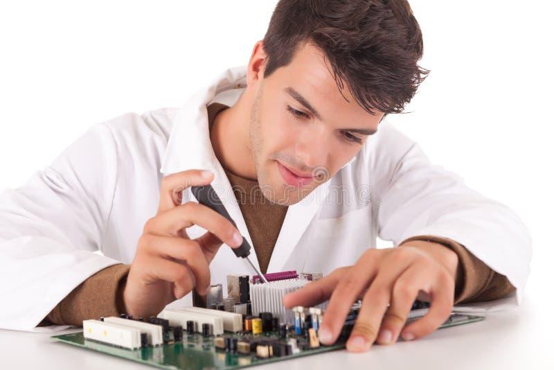 Computertechniker stockfoto
