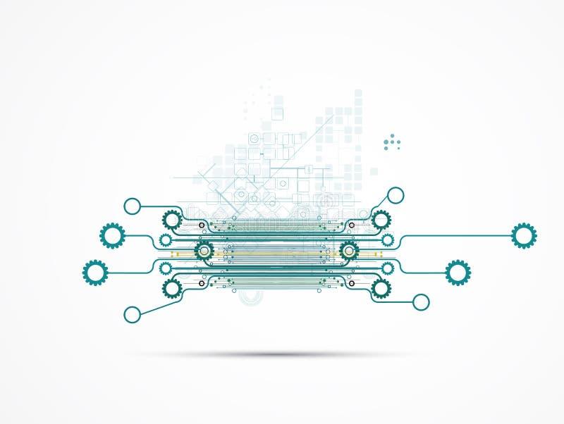 Computertechnologiegeschäft des futuristischen Internets der Wissenschaft hohes stock abbildung