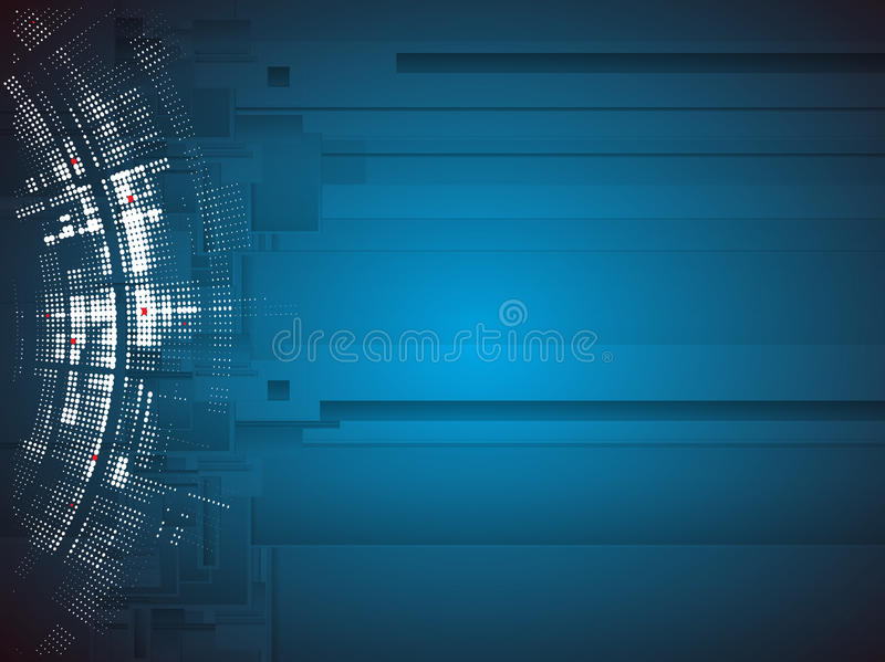 Computertechnologiegeschäft des futuristischen Internets der Wissenschaft hohes
