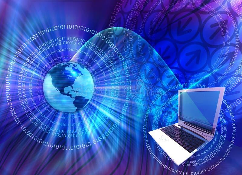 Computertechnologiemengeling vector illustratie