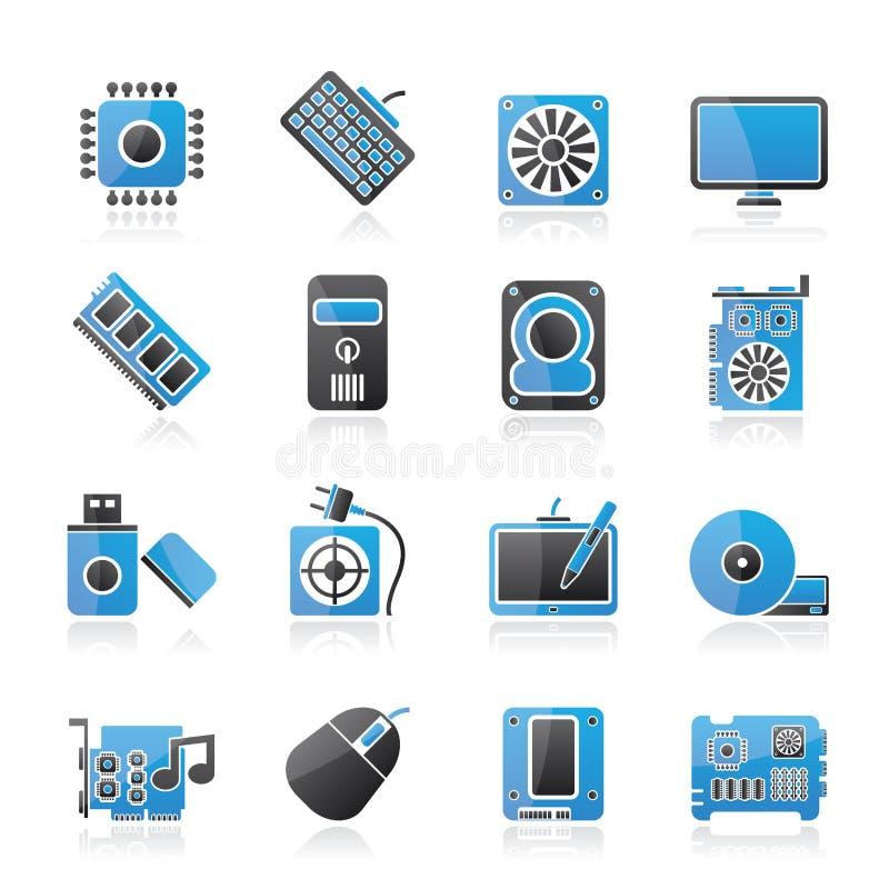 Computerteilikonen stock abbildung