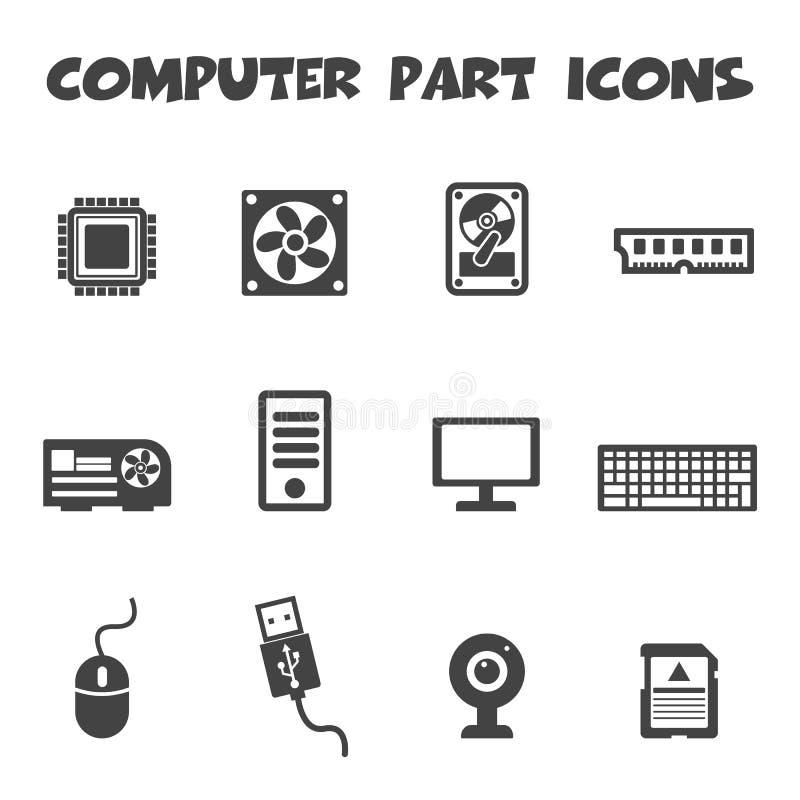 Computerteilikonen lizenzfreie abbildung