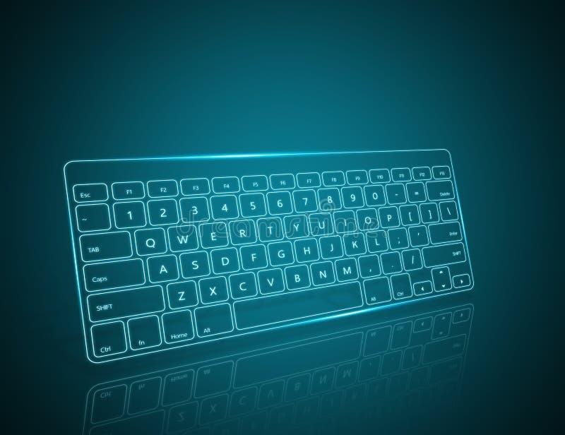 Computertoetsenbord vector illustratie