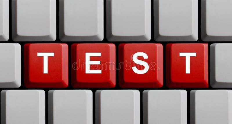 Computertoetsenbord: Test stock afbeelding