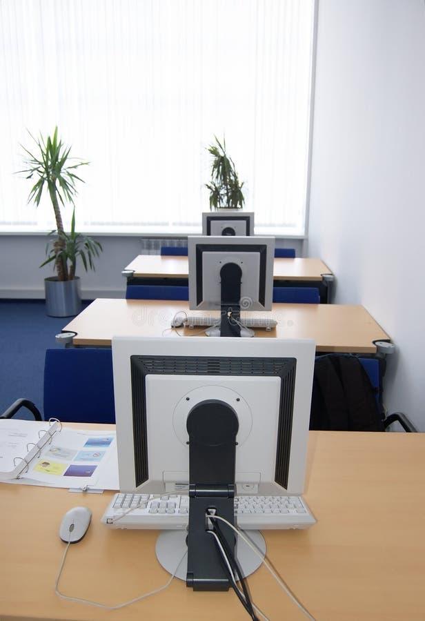 Computertrainingsklaslokaal royalty-vrije stock foto