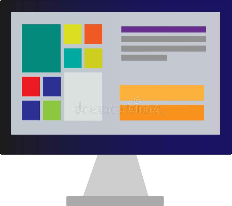 Computervector royalty-vrije stock afbeelding