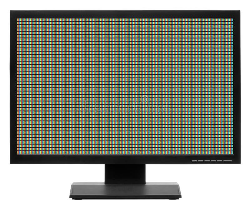 Computervertoning of lcd TV stock fotografie