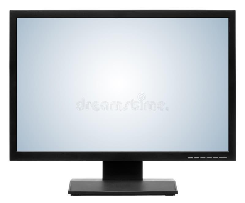 Computervertoning of lcd TV stock afbeelding