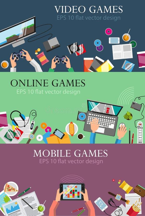 Computervideospelletjes royalty-vrije illustratie