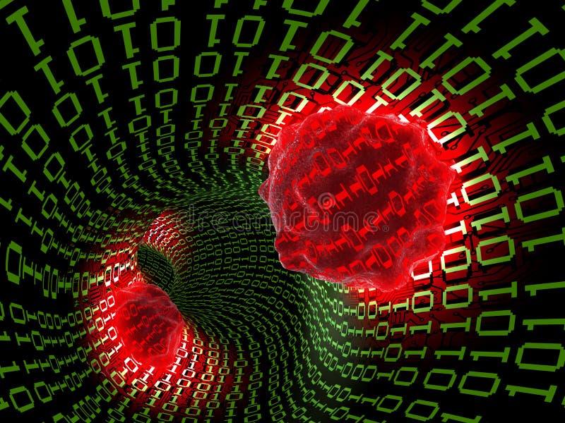 Computervirus 2 lizenzfreie abbildung