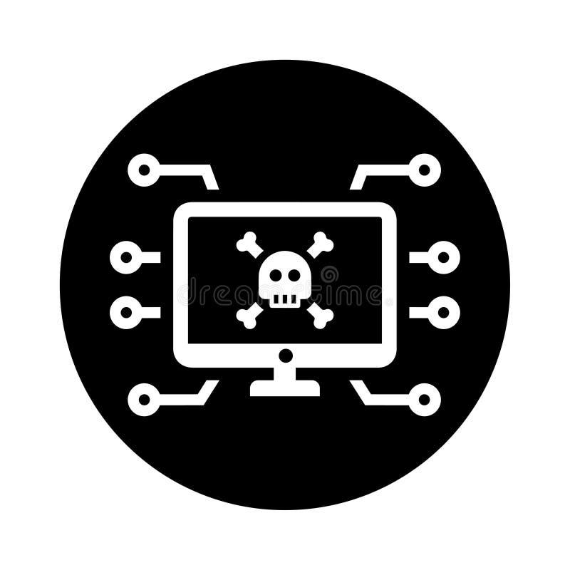 Computervirusangriffe, Kriminalität, Internet, Hacker, Hacker, illegaler Zugriff, verlorene Daten-Symbol stock abbildung