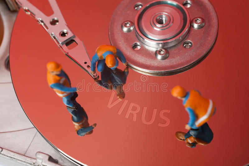 Computerviruskonzept lizenzfreies stockfoto