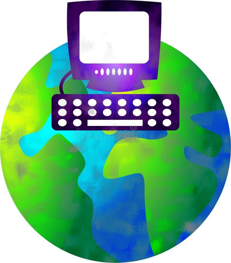 Computerwelt lizenzfreie abbildung