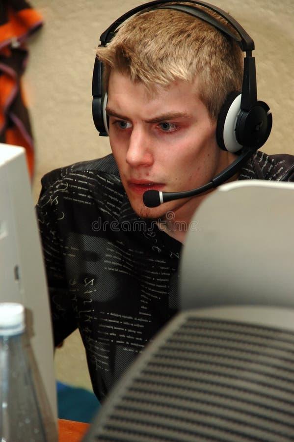 Computing. A young adult computing
