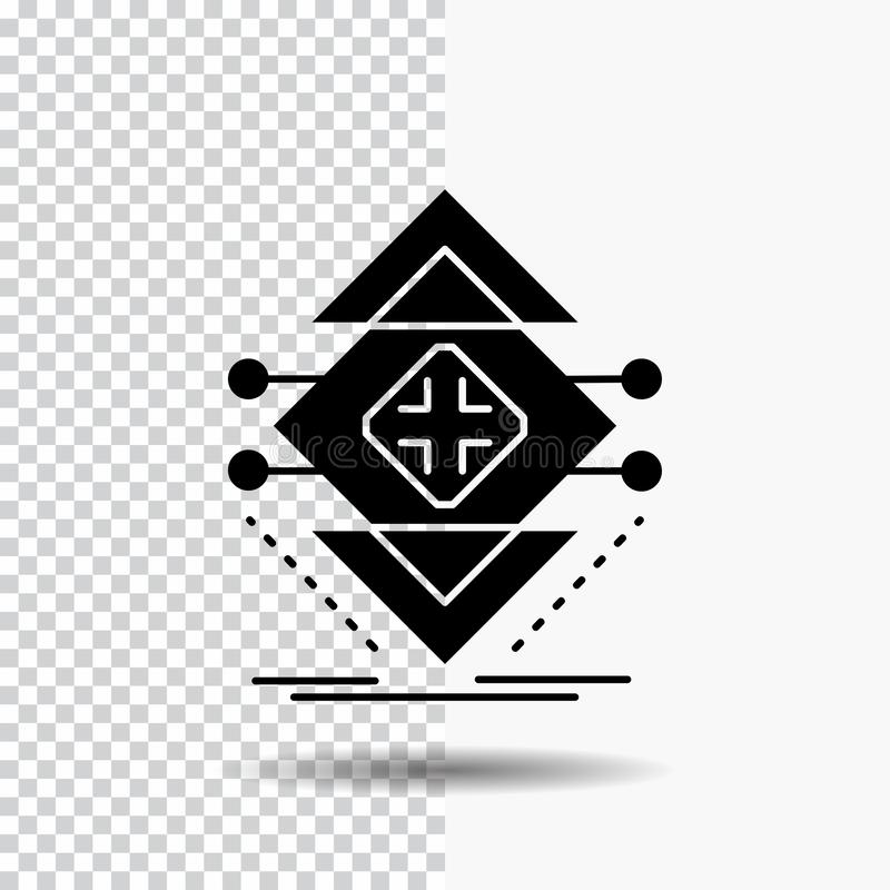 Computing, data, infrastructure, science, structure Glyph Icon on Transparent Background. Black Icon stock illustration