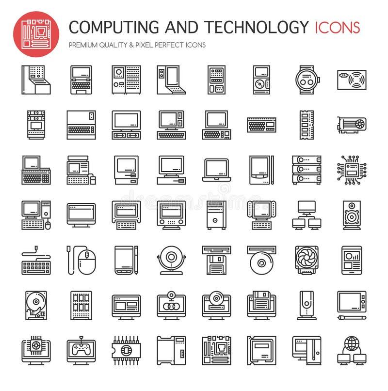 Computing and Technology stock illustration
