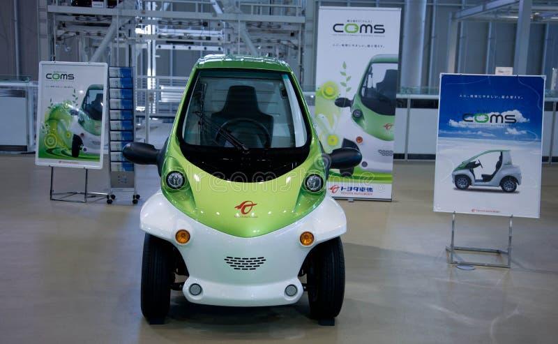 Coms Cuerpo del auto de Toyota Electro coche japón imagen de archivo