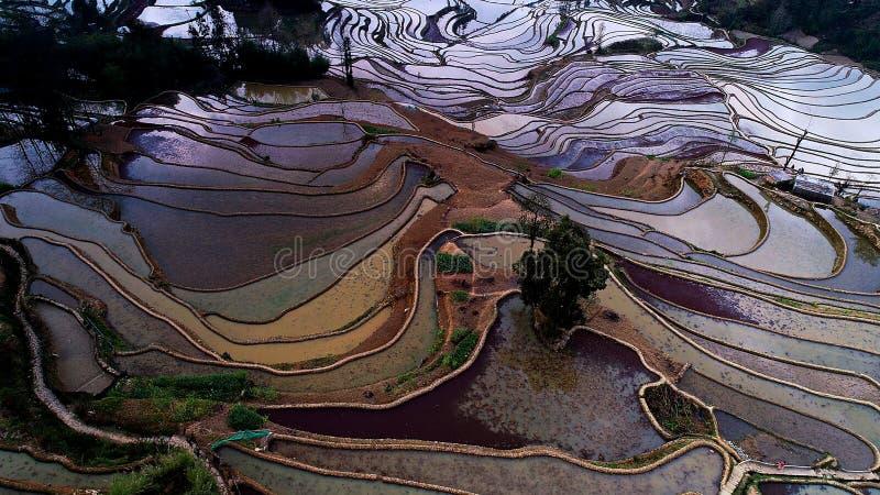 Comté de Yuanyang, province de Yunnan ? images libres de droits