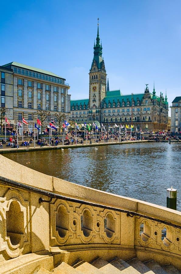 Comune di Amburgo, Germania fotografia stock libera da diritti
