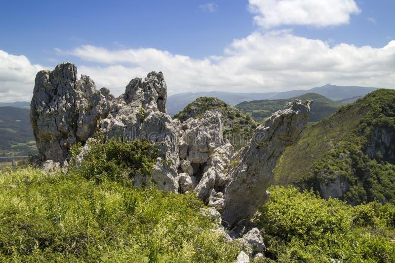 Comune di Cantabria, Liendo fotografie stock libere da diritti