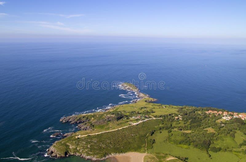 Comune di Cantabria, Liendo immagine stock libera da diritti