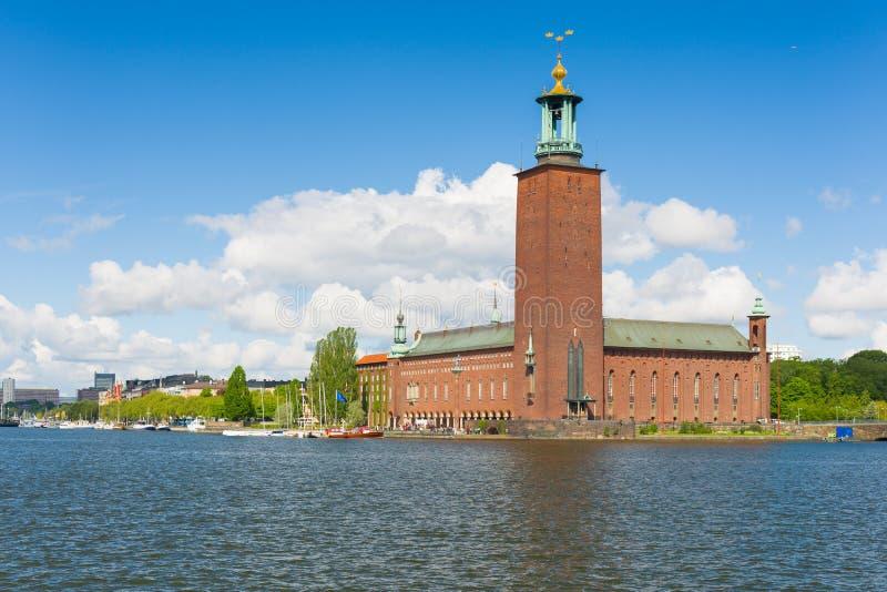 Comune di Stoccolma di estate fotografie stock