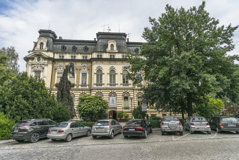 Comune nella città di Nowy SÄ… CZ fotografia stock