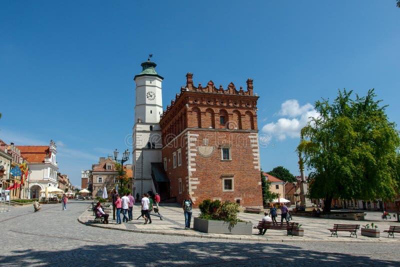 Comune in Sandomierz in Polonia fotografia stock