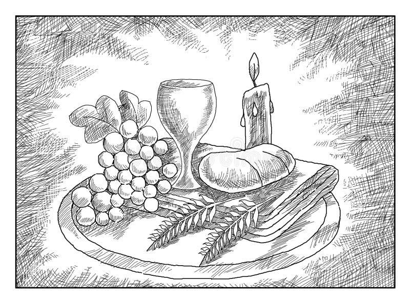 Comunión de Holi stock de ilustración