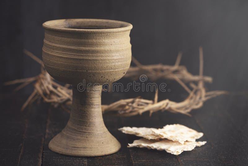 Comunión santa o señores Supper Symbols de Jesus Christ imagenes de archivo