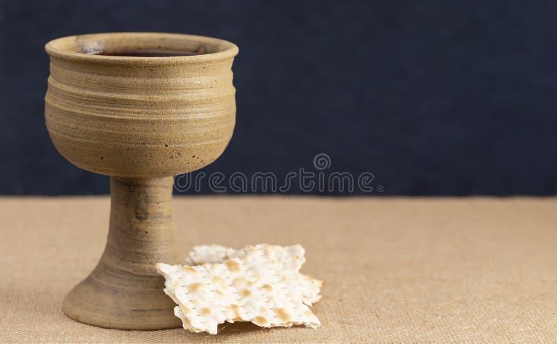 Comunión santa o señores Supper Symbols de Jesus Christ foto de archivo