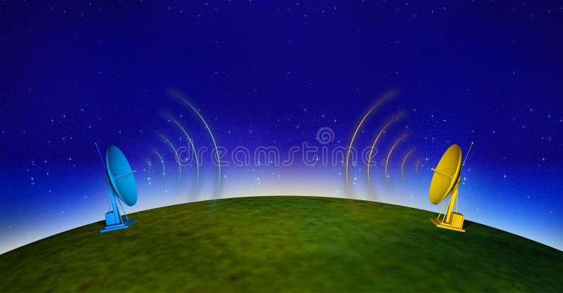 Comunicações 3 ilustração royalty free