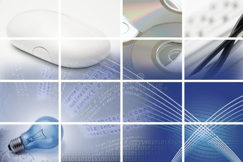 Comunicações e composição da tecnologia ilustração stock