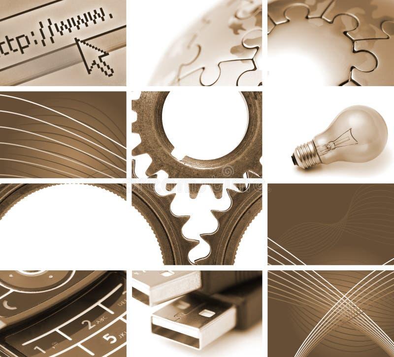 Comunicações e tecnologia ilustração do vetor