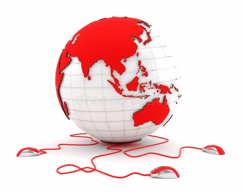 Comunicações em Ásia - comunicações em China ilustração stock