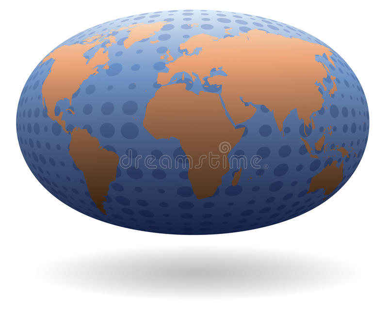 Comunicações globais ilustração do vetor
