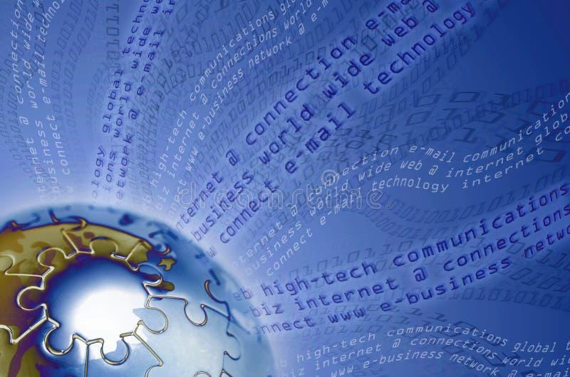 Comunicações globais e tecnologia ilustração do vetor
