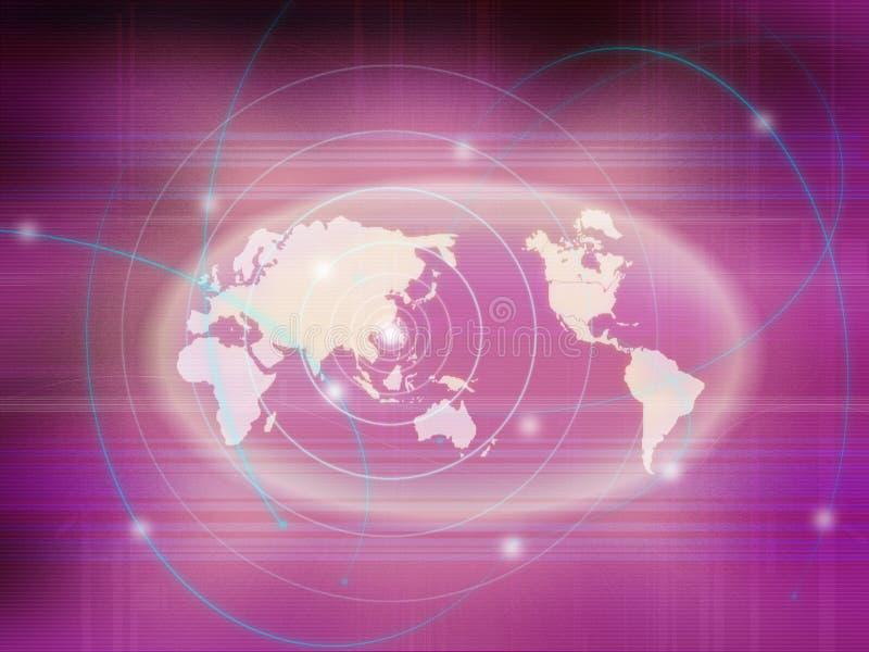 Comunicación de la correspondencia de mundo ilustración del vector