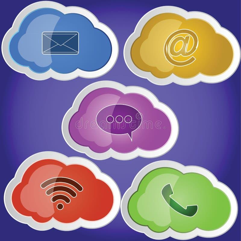 Comunicación de la nube foto de archivo libre de regalías