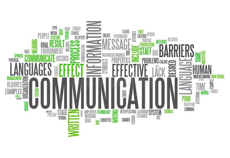 Comunicación de la nube de la palabra stock de ilustración
