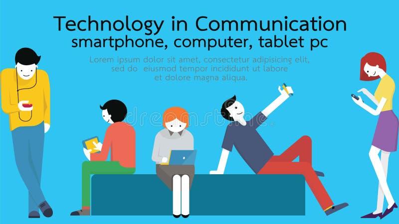 Comunicación de la tecnología stock de ilustración