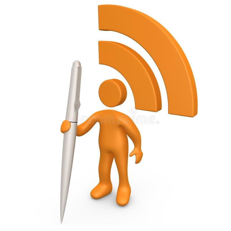 Comunicación de RSS stock de ilustración