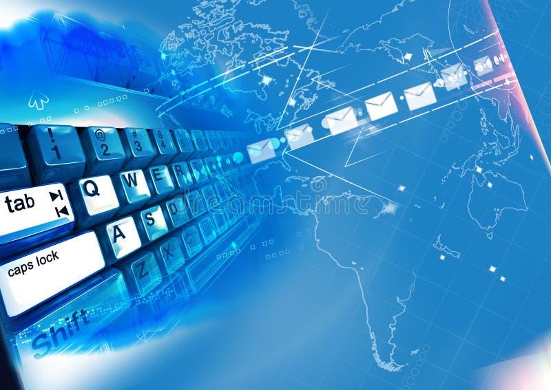 Comunicación del Internet stock de ilustración