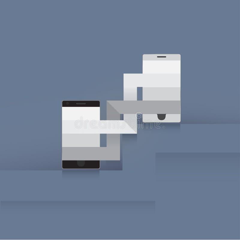 Comunicación del teléfono ilustración del vector