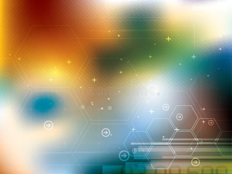 Comunicación digital de la tecnología del vetor abstracto del fondo ilustración del vector