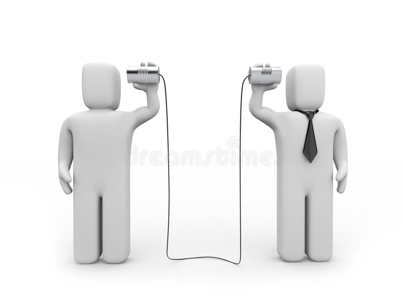 Comunicación empresarial ilustración del vector