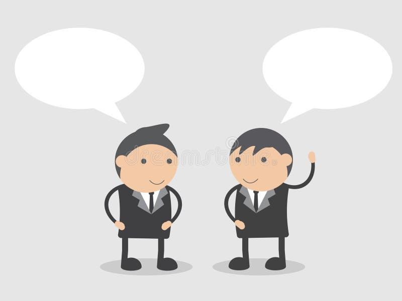 Comunicación empresarial Extracto del personaje de dibujos animados del ejemplo del vector del garabato fotografía de archivo