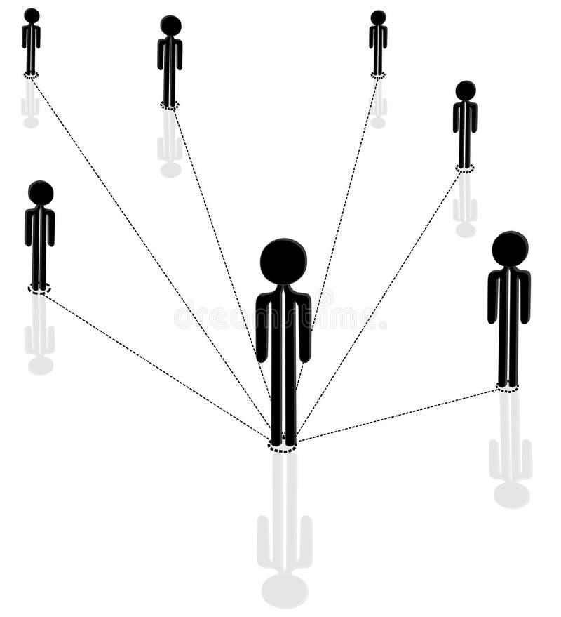 Comunicación entre la gente stock de ilustración