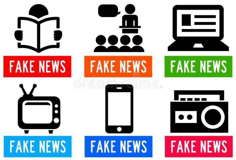 Comunicación falsa de los medios de noticias libre illustration