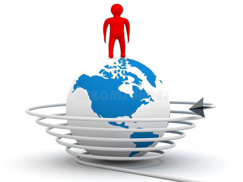 Comunicación global en el mundo. libre illustration